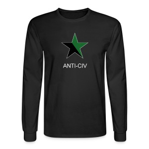 Black and Green, Anti-Civ - Men's Long Sleeve T-Shirt