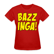 Women's T-Shirts ~ Women's T-Shirt ~ BAZZINGA T-Shirt - Exclusive New Design