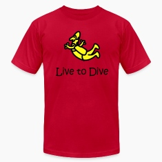 Orange Live To Dive T-Shirts