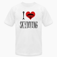 White I Love Skydiving T-Shirts