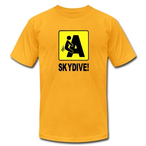F'n A Skydive! - Men's T-Shirt by American Apparel