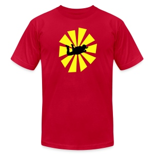 Skydiver With Sun Rays - Men's Fine Jersey T-Shirt