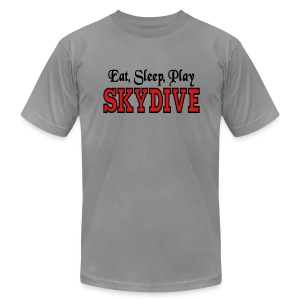 Eat Sleep Play Skydive - Men's T-Shirt by American Apparel