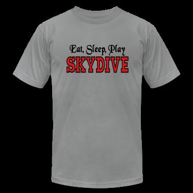 Slate Eat Sleep Play Skydive T-Shirts