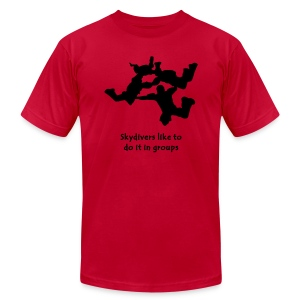 Skydivers Like To Do It In Groups - Men's T-Shirt by American Apparel