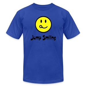 Jump Smiling - Men's T-Shirt by American Apparel