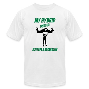 My Hybrid Runs On Altitude & Adrenaline - Men's T-Shirt by American Apparel