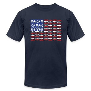 American Skydiving Flag - Men's T-Shirt by American Apparel
