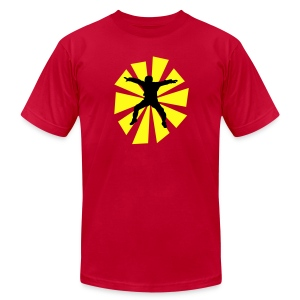 Sitflyer With Sun Rays - Men's Fine Jersey T-Shirt