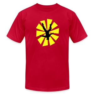 Freeflyer With Sun Rays - Men's Fine Jersey T-Shirt
