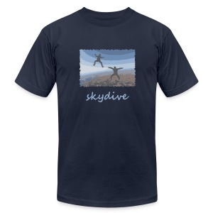 Skydive Sitflyers - Men's T-Shirt by American Apparel