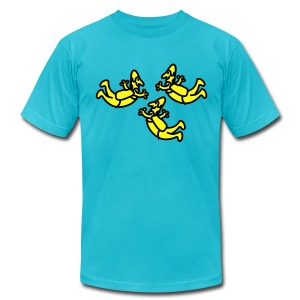 Cartoon Group Of Skydivers - Men's T-Shirt by American Apparel