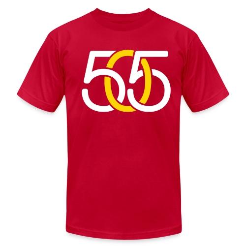 M, 505 White & Yellow Link, AmericanApparel - Men's Fine Jersey T-Shirt