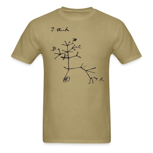 Darwin I Think Tree - Men's T-Shirt