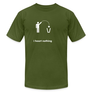i heart nothing - Men's Fine Jersey T-Shirt