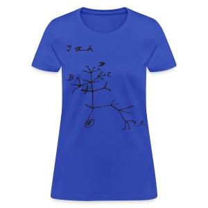 Darwin I Think Tree - Women's T-Shirt