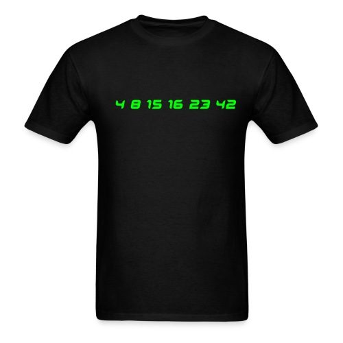 LOST NUMBERS -Neon Green Numbers - Men's T-Shirt
