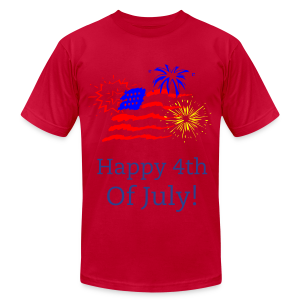 Happy 4th  of July America - Men's T-Shirt by American Apparel