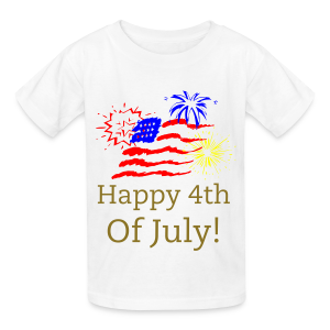 Happy 4th  of July America - Kids' T-Shirt