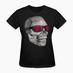 Black skull with sunglasses 3000 (DD) Women's T-Shirts