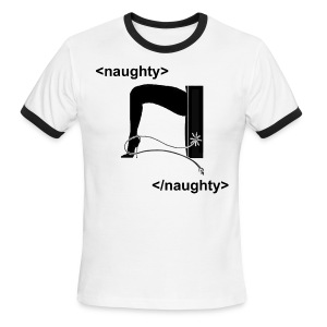 naughty - Men's Ringer T-Shirt