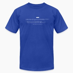 Royal blue Blue Screen of Death (BSOD) T-Shirts