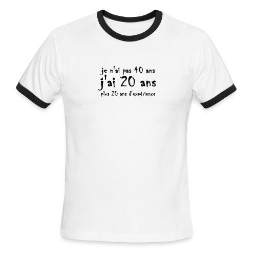 Je n'ai pas 40 ans - T-shirt à bords contrastants pour hommes American Apparel