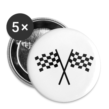 White Racing flag Buttons