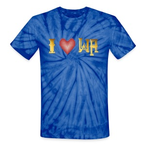 I love WASHINGTON state - Unisex Tie Dye T-Shirt