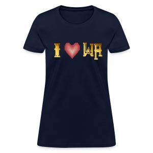 I love WASHINGTON state - Women's T-Shirt