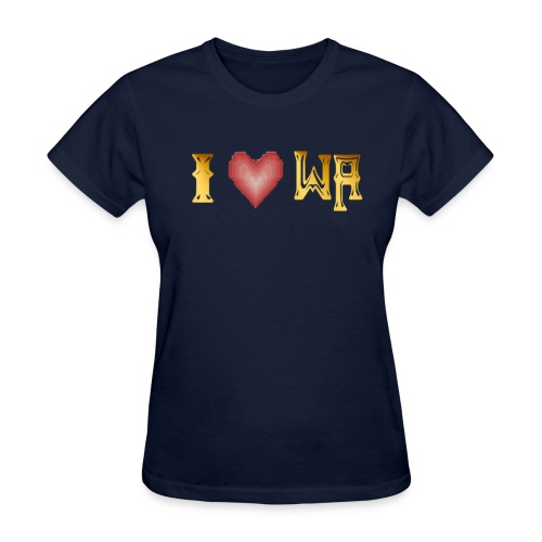 I love WASHINGTON state - Women's T-Shirt