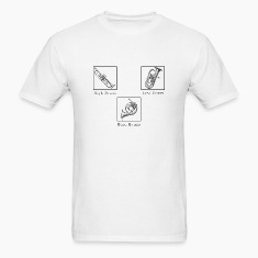 White hibrasslobrass T-Shirts