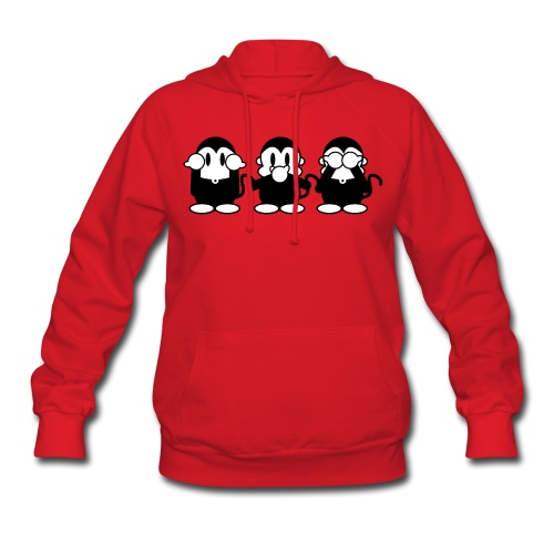 3 Monkeys - red women hoodie - Women's Hoodie