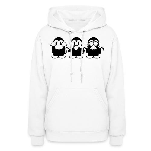 3 Monkeys - white women hoodie - Women's Hoodie