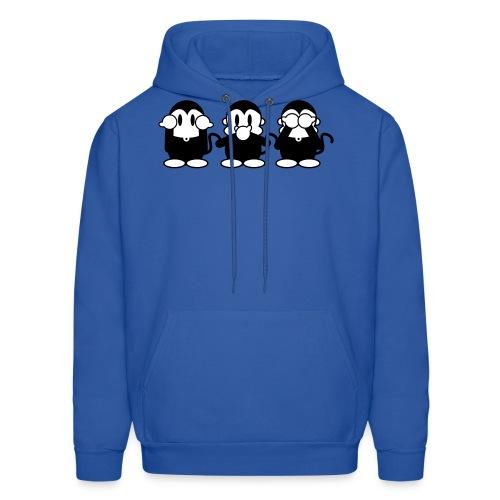 3 Monkeys - royalblue hoodie - Men's Hoodie
