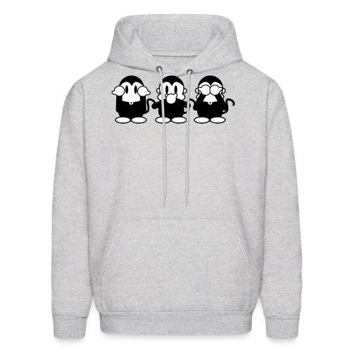 3 Monkeys - ash hoodie - Men's Hoodie