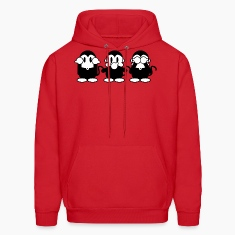 Red 3 Monkeys Hoodies