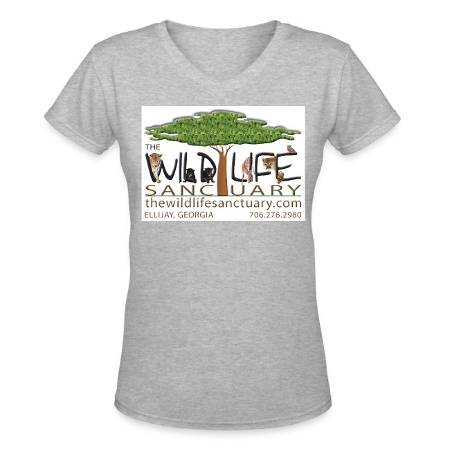 Women's V-Neck T-Shirt with Logo front