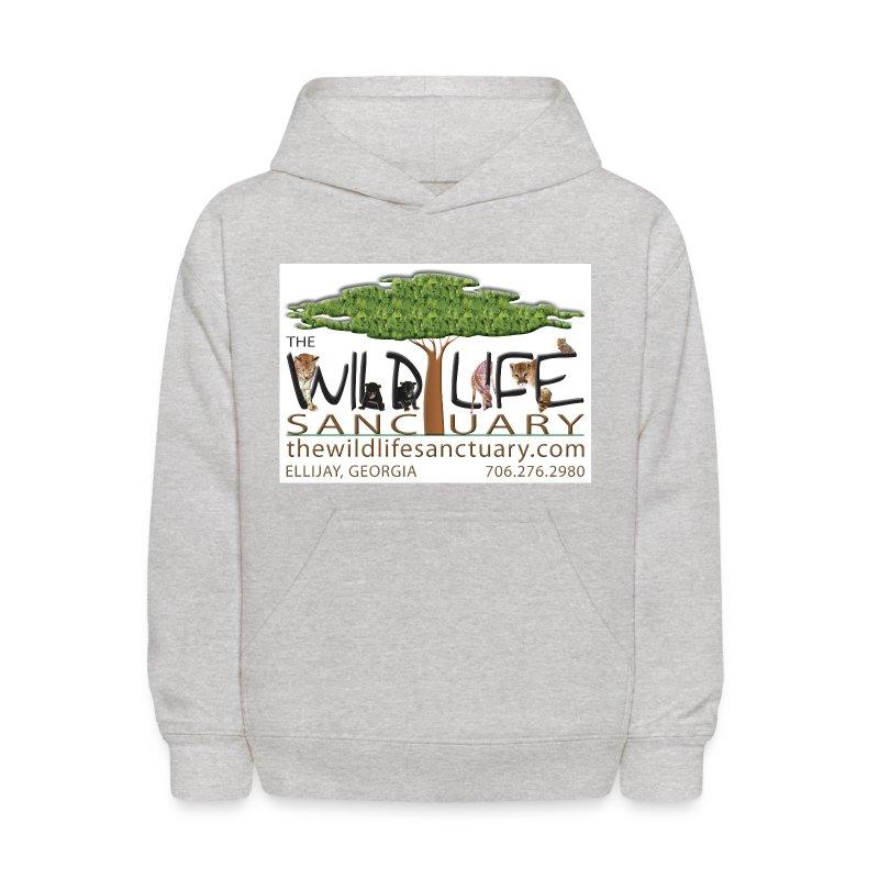 Kid's Hooded Sweatshirt with Logo front - Kids' Hoodie