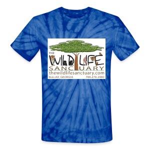 Unisex Tie Dye T-Shirt with Logo front - Unisex Tie Dye T-Shirt