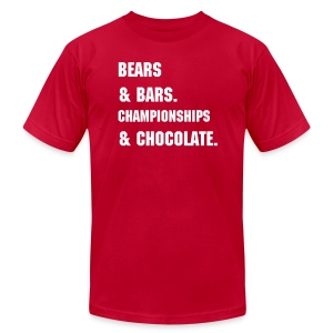 Bears & Bars - Men's T-Shirt by American Apparel