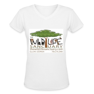 Women's V-Neck T-Shirt with Logo front - Women's V-Neck T-Shirt