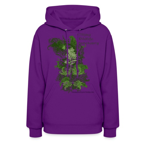 Woman's Hooded Sweatshirt with Stylized Logo - Women's Hoodie