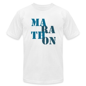 Men's T-Shirt by American Apparel - running,Marathon