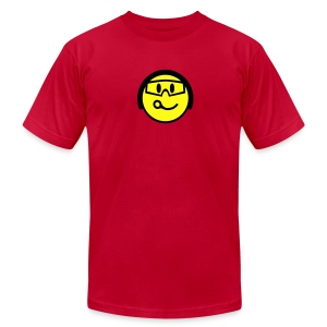 Smiling Closing Pin Face With Helmet And Goggles - Men's T-Shirt by American Apparel