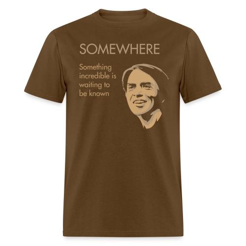 Carl Sagan - Somewhere - Men's T-Shirt