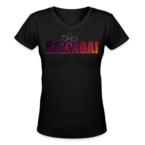 Bazinga! (Girls V-Neck) - Women's V-Neck T-Shirt