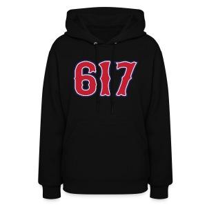 Boston 617 Sox Style Women's Hooded Sweatshirt - Women's Hoodie