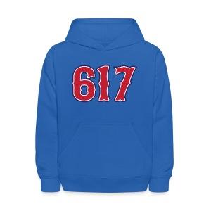 Boston 617 Sox Style Kid's Hooded Sweatshirt - Kids' Hoodie