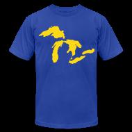 T-Shirts ~ Men's T-Shirt by American Apparel ~ Just Michigan Men's American Apparel Tee (not glow in dark)